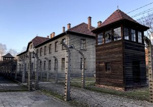 Il recinto di filo spinato di Auschwitz