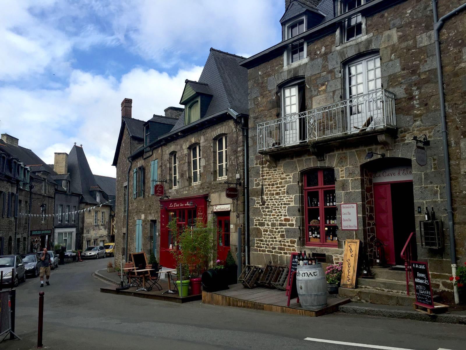 Le strade di Becherel nell'Ille-et-Vilaine