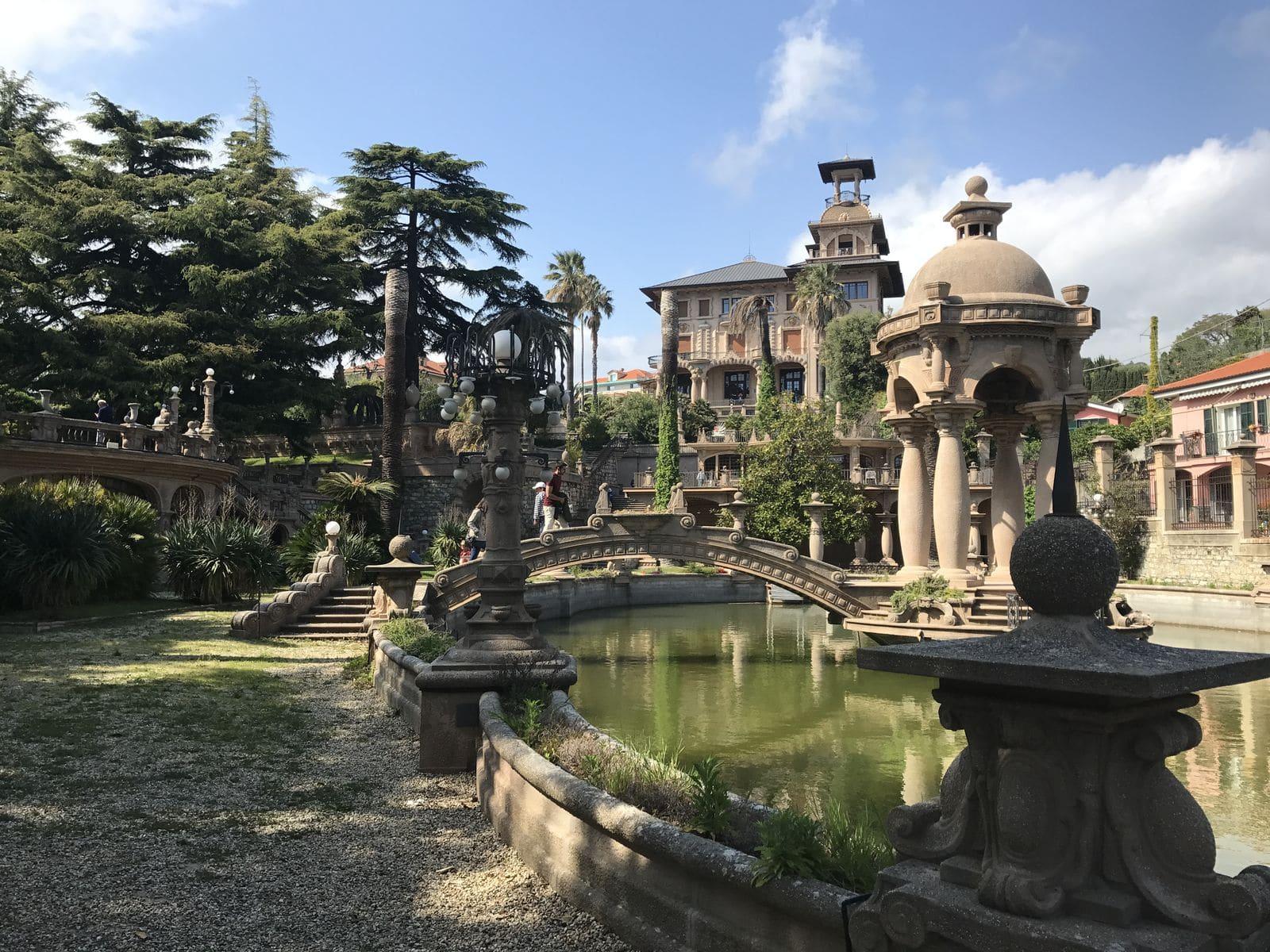 Il parco di Villa Grock a Imperia