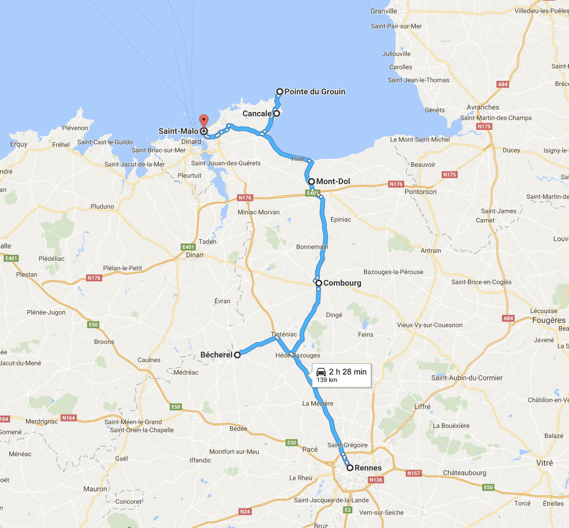itinerario nel dipartimento dell'Ille-et-Vilaine
