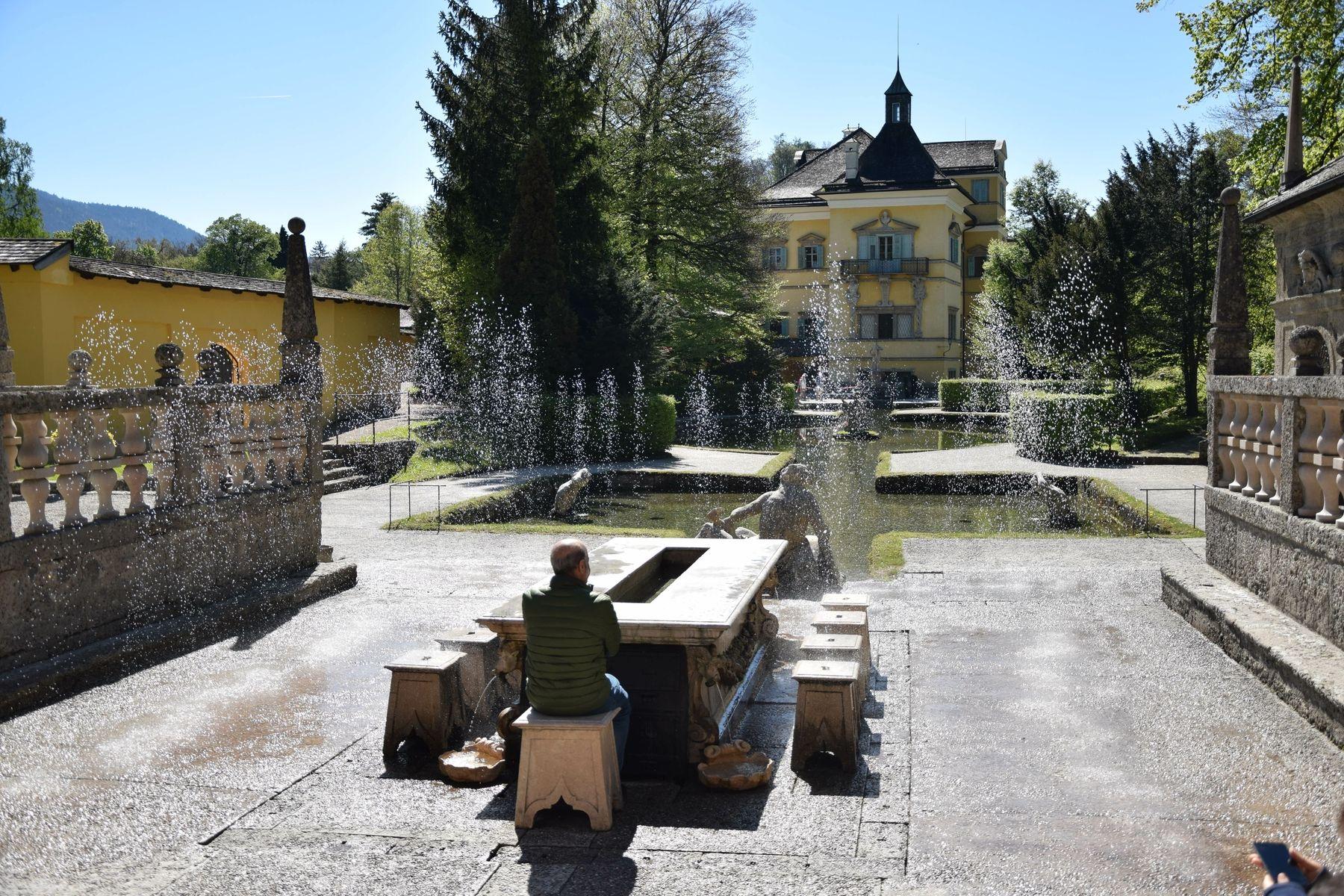 Giochi d'acqua a Hellbrunn