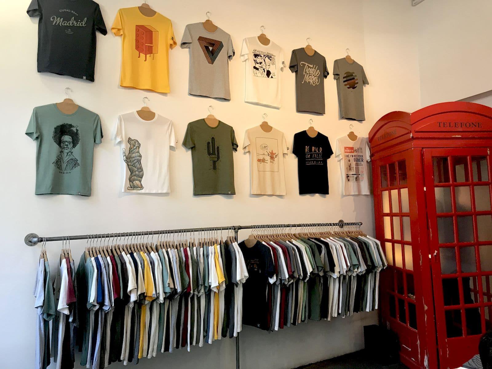 Il negozio Typographia a Madrid