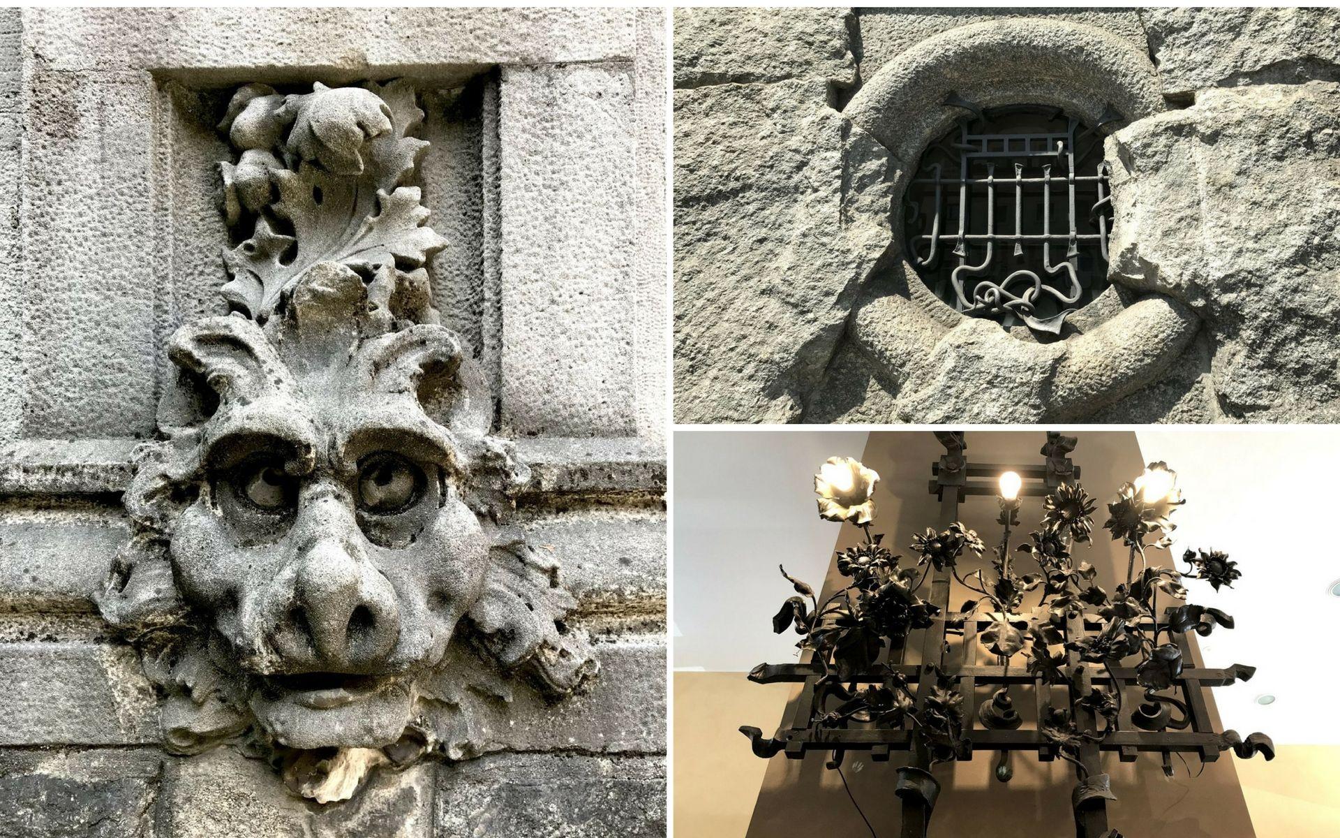 elementi decorativi di palazzo Castiglioni