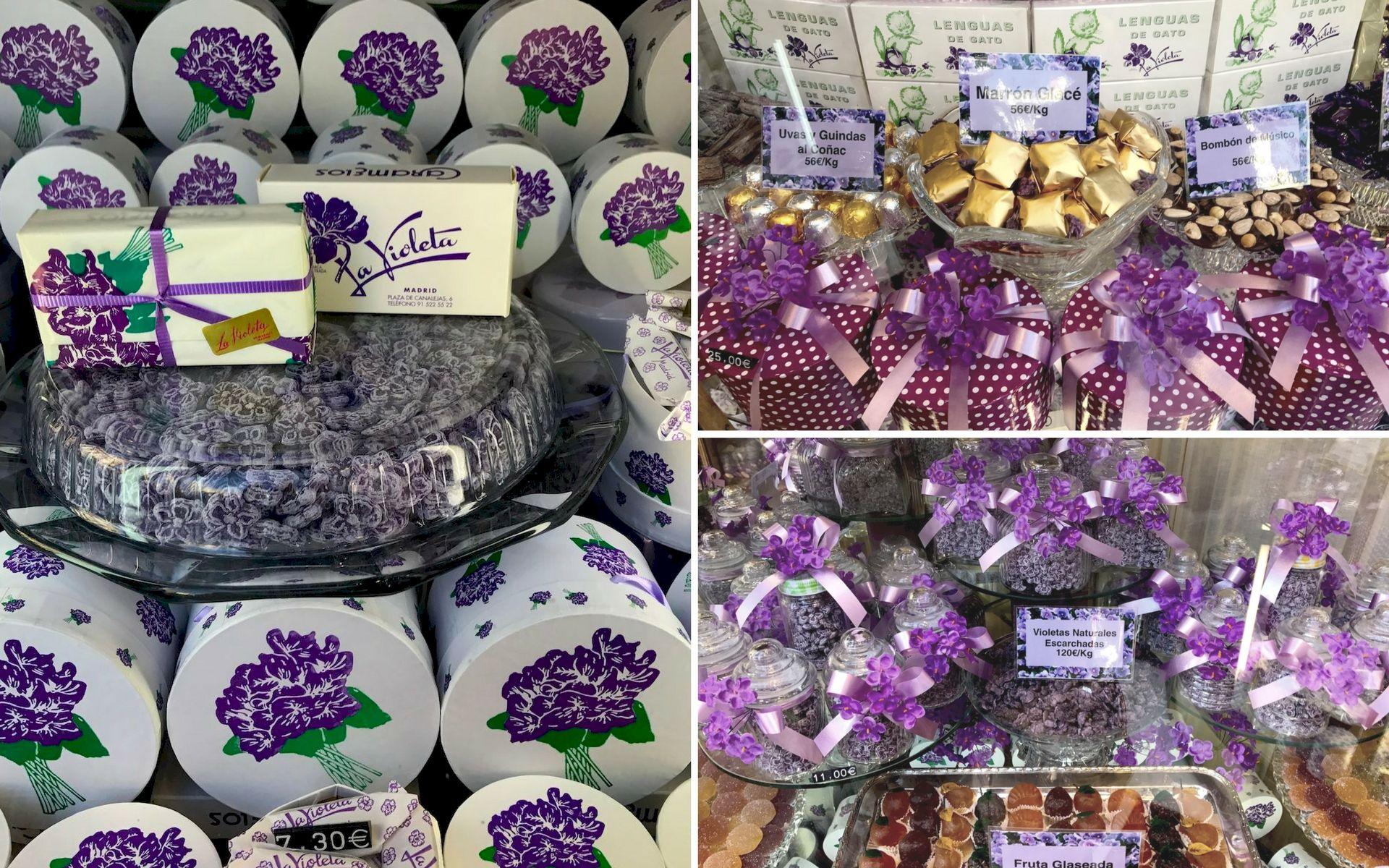 Le caramelle a La Violeta Madrid