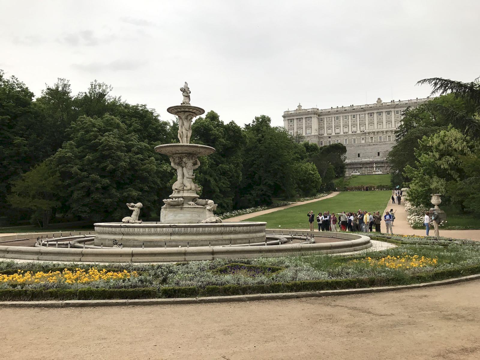I giardini del Campo del Moro a Madrid