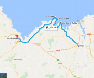 Itinerario in auto sulla Côte d'Emeraude