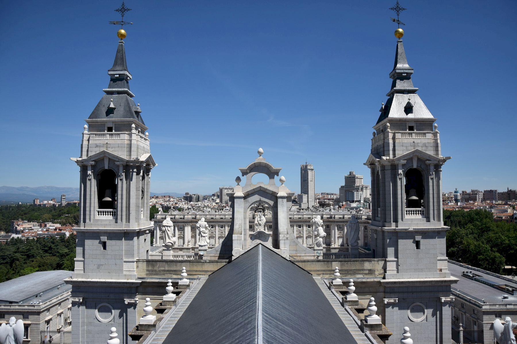 Panorama dalla cattedrale dell'Almudena