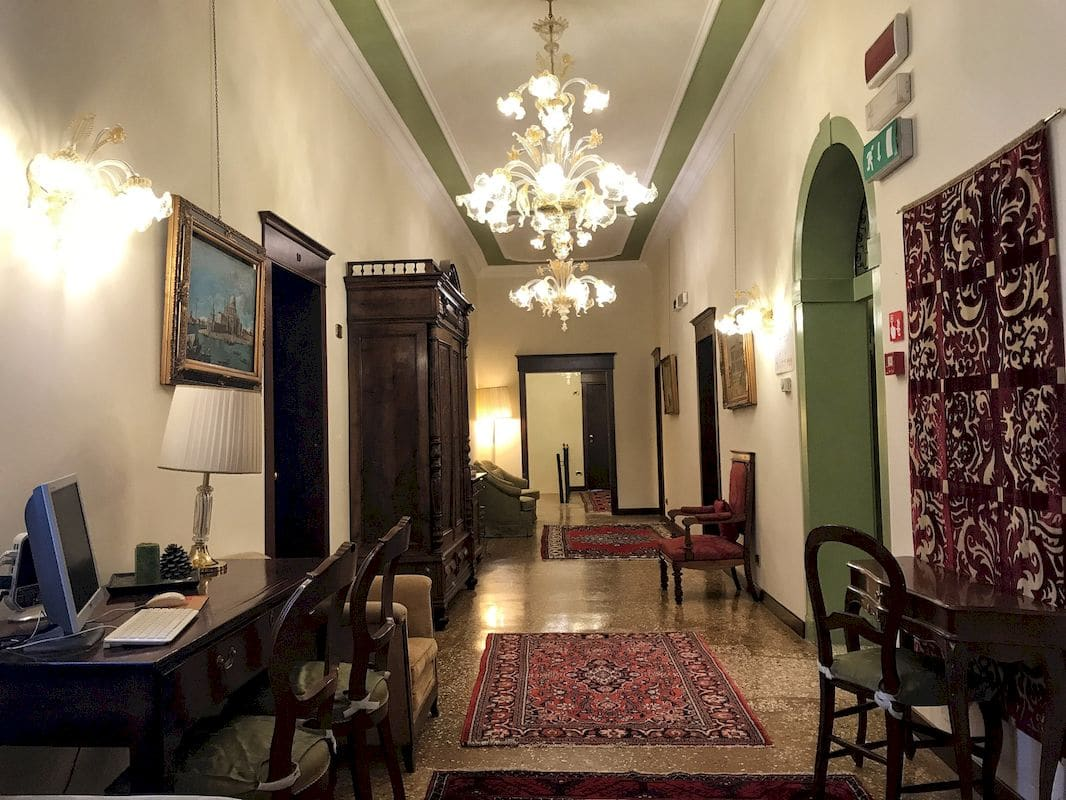 Il piano delle camere dell'Hotel Ponte Mocenigo
