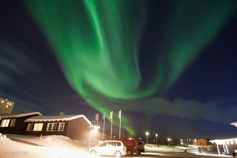 Northern lights in Svezia