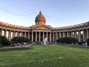 La cattedrale di Kazan san pietroburgp