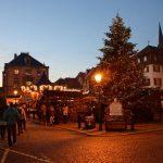 La piazza di Obernai in Alsazia