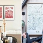 Idee regalo per chi ama viaggiare mappe da inquadrare