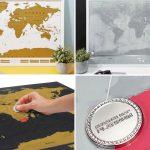 Idee regalo per chi ama viaggiare- scratch map