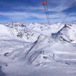 Treno del Bernina: la vista dalla funivia di Diavolezza