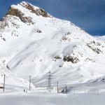 La distesa di neve bianca all'Ospizio Bernina
