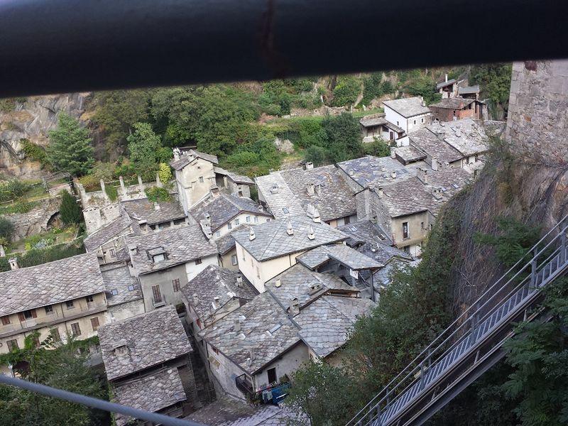 Il borgo di Bard in Valle d'Aosta