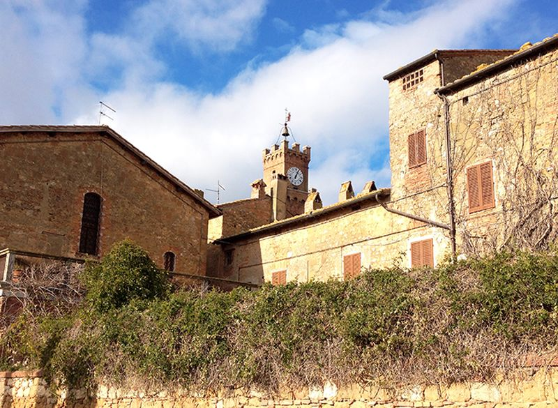 Scorcio del borgo di Pienza in Val d'Orcia