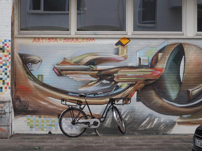Street art nel quartiere belga di Colonia